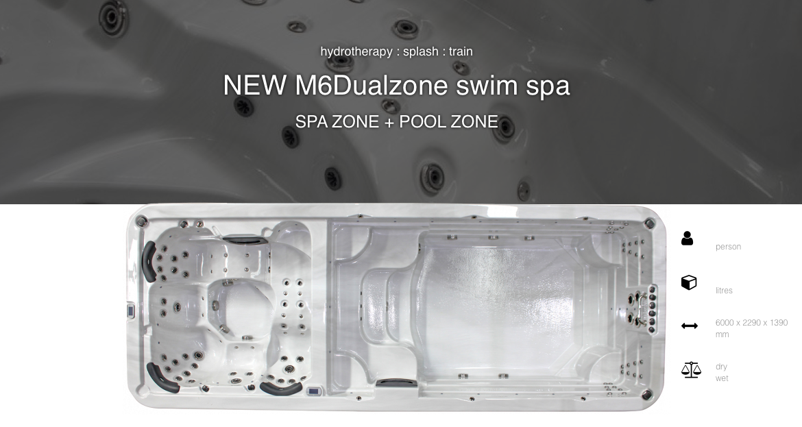 M6dualzone swim spa